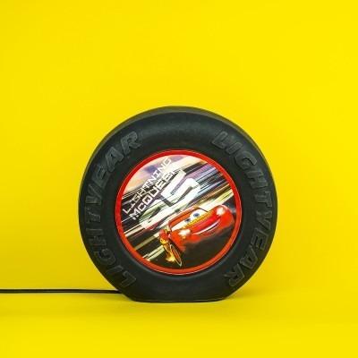 Luminária Abajur Roda Carros Mcqueen Disney Decor