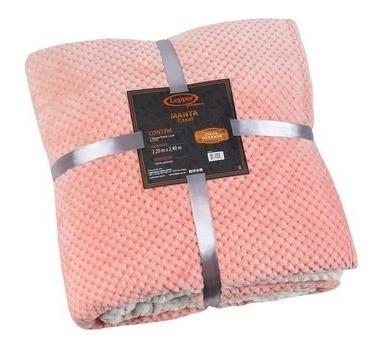Manta Fleece Casal Degradê Mélodie Lepper Premium Rosa