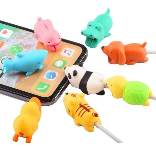 Protector Cable Micro Usb C iPhone Animales Cargador - Otec