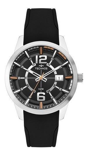 Relógio Technos Masculino Preto 2315kzx/0p Original Nota