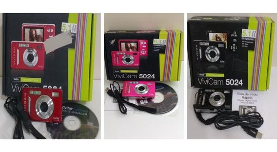 Câmera Digital Vivicam V5024 5,1 Megapixel Lcd 2,4 Picbridg