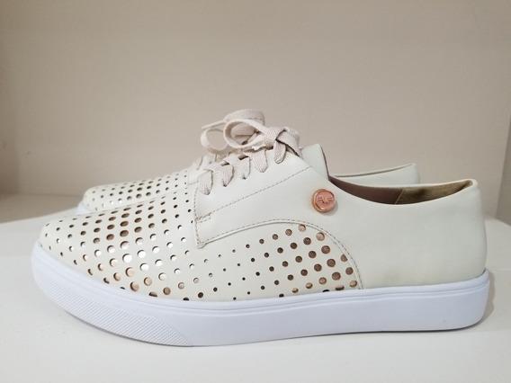 Zapatillas Ferraro Chipre Natural Cuero Zapato Mujer 2020
