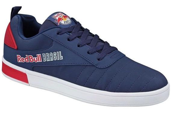 Tênis Navy White Salzburg Azul Marinho Couro Sint Red Bull