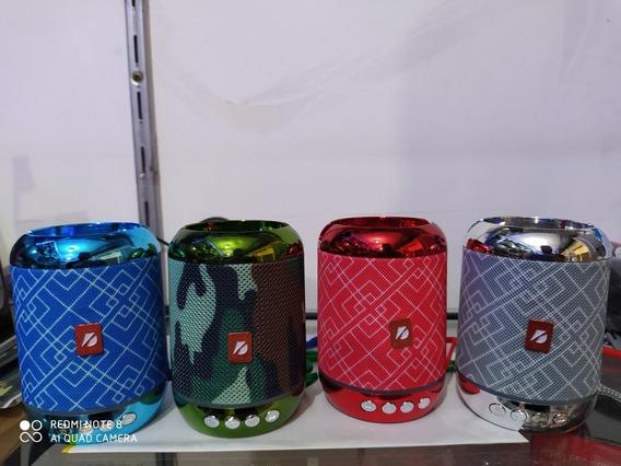 Caixinha De Som Bluetooth Led Ws1806 Speaker Rádio Fm Mp3