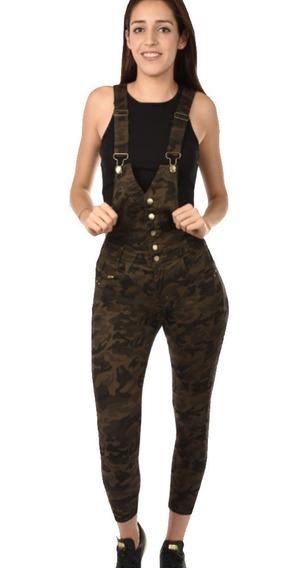 Overol Jeans Dama Mujer Skinny Jomper Mezclilla Camuflaje