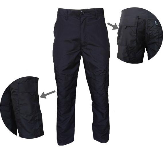 Calça Vigilante Segurança Agente Masculina Preta Reforçada