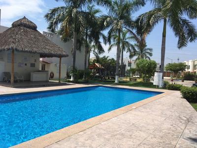 Renta De Casa En Coto Privado Villa Del Mar , Manzanillo, Colima.