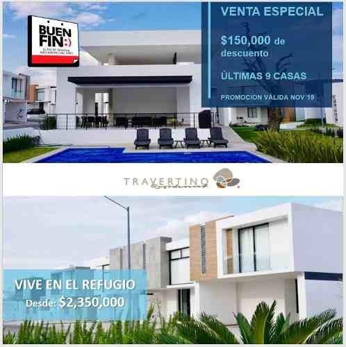 Estrena Casa En Residencial Travertino, El Refugio!!!