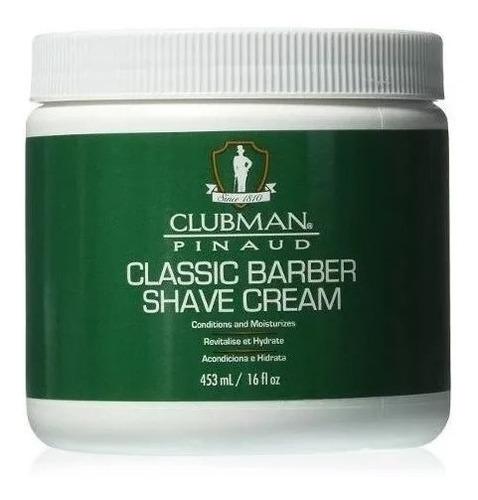 Crema Afeitar Clubman Pinaud Classic Barber 8oz Hidrata