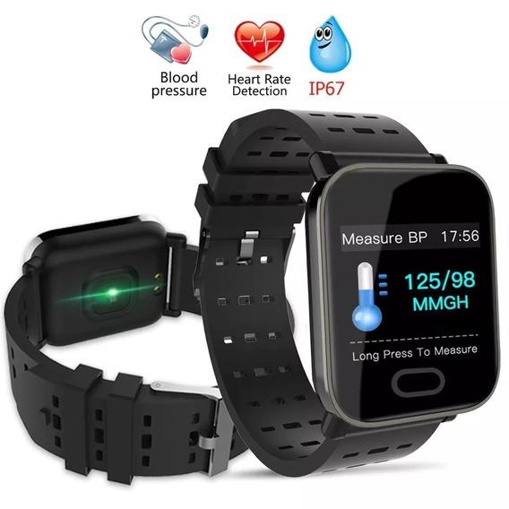 Relógio Smartband Pressão Arterial E Monitor Cardíaco Sport