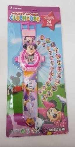 Relogio Infantil Minnie Com Projetor De Luz Com 24 Imagens