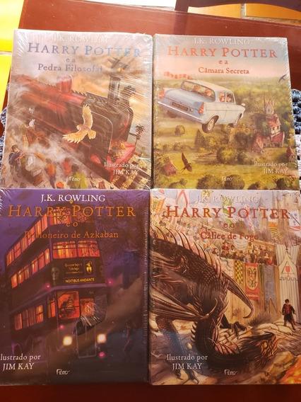 Colecao Livros Harry Potter Edição Ilustrada Capa Dura Lacra