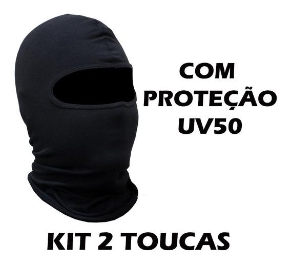Kit 2 Balaclava Touca Ninja Motoqueiro Moto Motoboy C/ Uv50