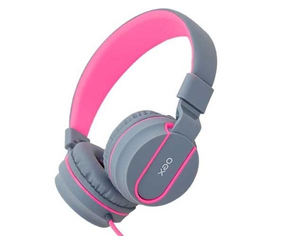 Headset Fone Neon Oex Hs106 Rosa