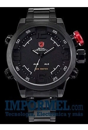 Reloj Original Shark Sh105 Correa Metal Led Impormel