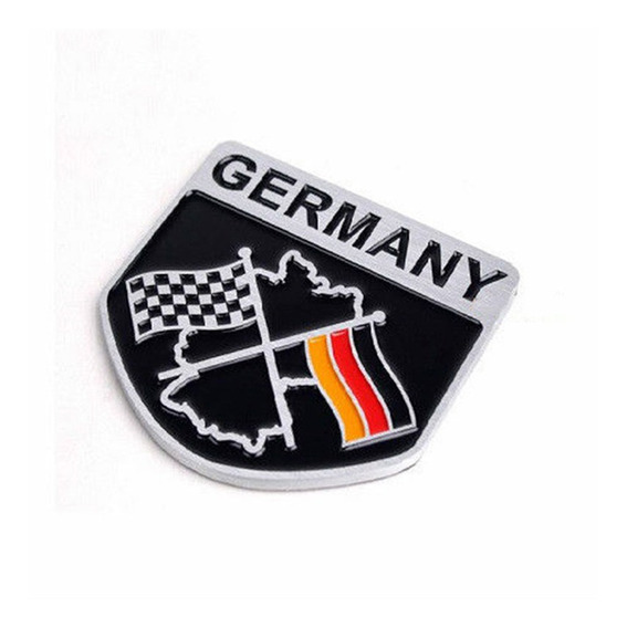 Emblema Alemanha Racing Vw Jetta Golf Gol Fox Fusca Bmw