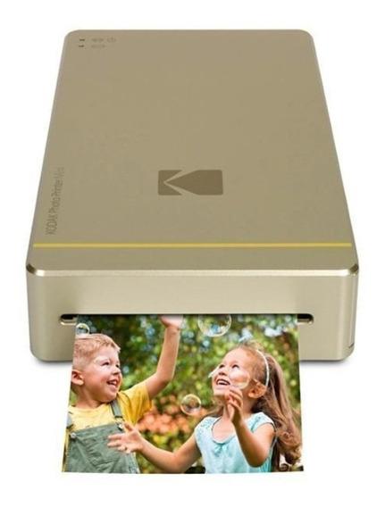 Impressora Kodak Pm-210g Photo Printer Mini Dourada