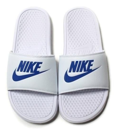 Ojotas Nike Benassi Hombre Blancas