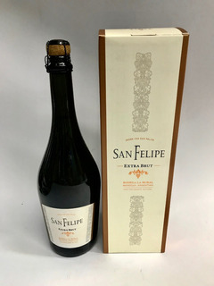 San Felipe Champagne 750ml Extra Brut-estuche Metal 2014