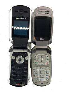 Lote C/ 2 Celular Motorola V265-lg Mx240 No Estado