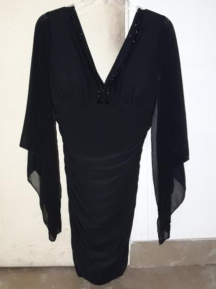 Vestido De Fiesta Importado Talle S Color Negro Un Solo Uso