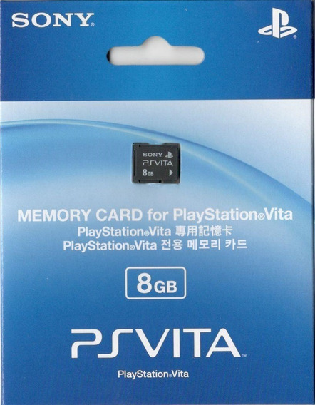 Cartão De Memória 8 Gb Memory Card Psvita - Frete Grátis