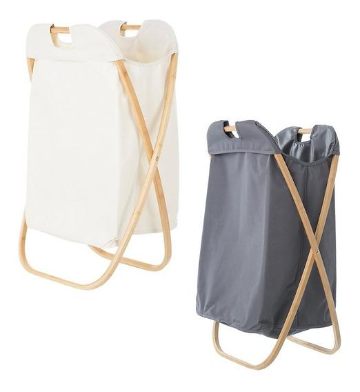 Cesto Canasto Guarda Ropa Sucia 71x46 Laundry Premium Madera