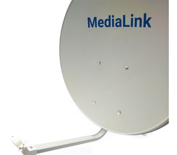 Kit 3 Antena Offset De 60 Cm Banda Ku Medialink Tripé