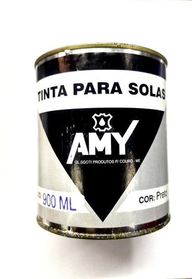 Tinta Para Solas E Gigas Amy Preto 900ml.