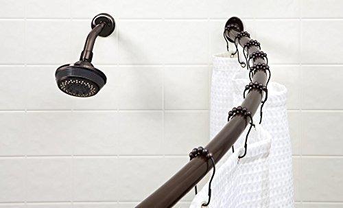 Imagen 1 de 1 de Bath Bliss - Cortina Curvilinea De Ducha Redondeada De 42 A