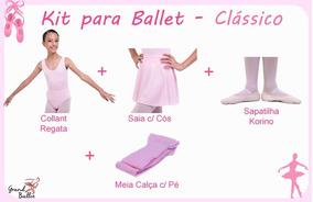 Kit Roupa Uniforme Ballet - Classico - 4 Peças