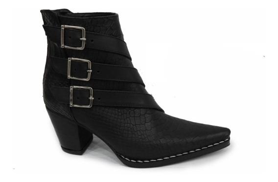 Zapato Mujer Bota Texana Cuero Artesanal Anaconda 2020