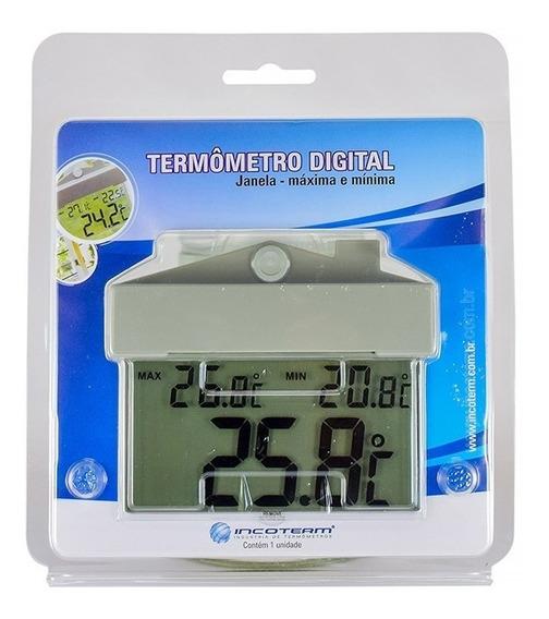 Termômetro Digital Ambiente Interno Com Ventosa Incoterm