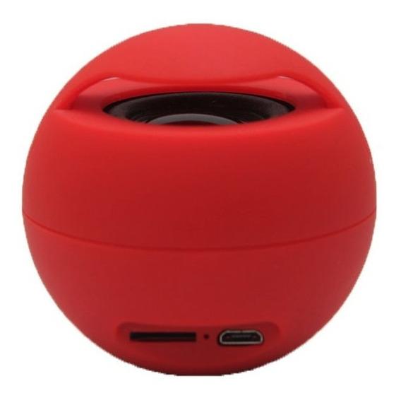 Mini Caixa De Som Portátil Bluetooth Ycyy Cor Vermelha