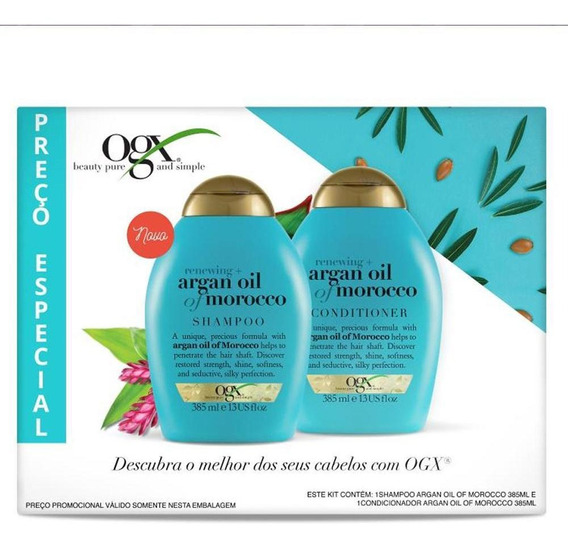 Kit Shampoo + Condicionador Ogx Argan Oil Of Morocco 385ml