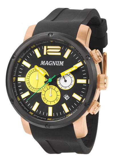 Relógio Magnum Masculino Cronografo Rose E Preto Ma34683p