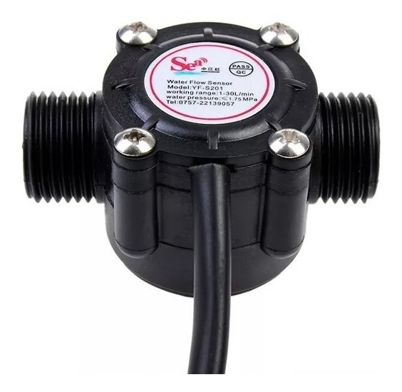 Sensor De Fluxo Vazão De Água 1/2 Yf-s201