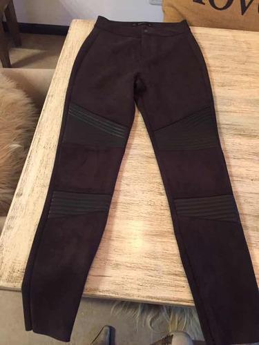 Pantalón De Gamuza Marrón Zara