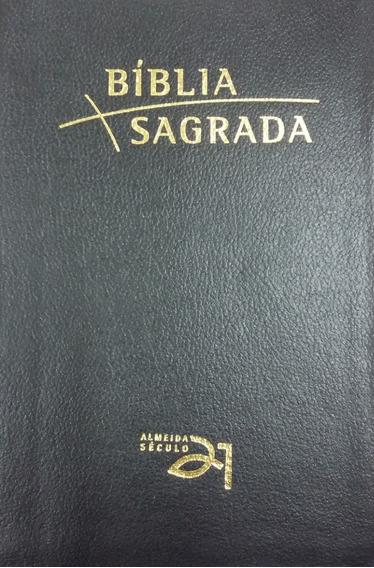Bíblia Almeida Século 21 Luxo - Beira Dourada Letra Grande