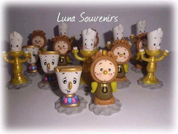 Souvenirs Taza Chip(bella Y Bestia)en Porcelana Fría