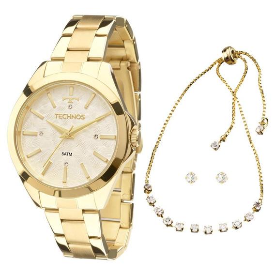Relógio Technos Trend 2039bk/k5b Dourado