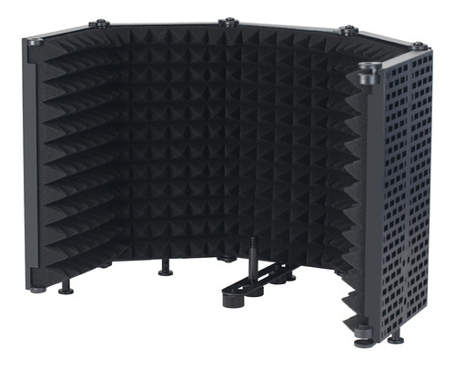 Imagen 1 de 10 de Micrófono Aislamiento Escudo De 5 Paneles De Viento