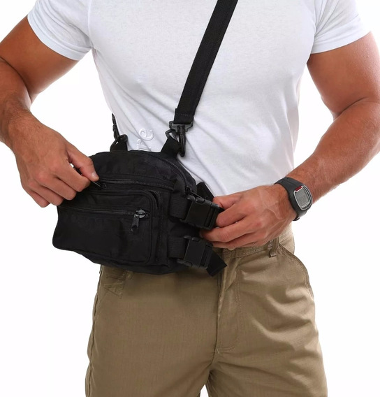 Pochete Masculina Bolsa Cintura Esportiva Motoqueiro Fb221