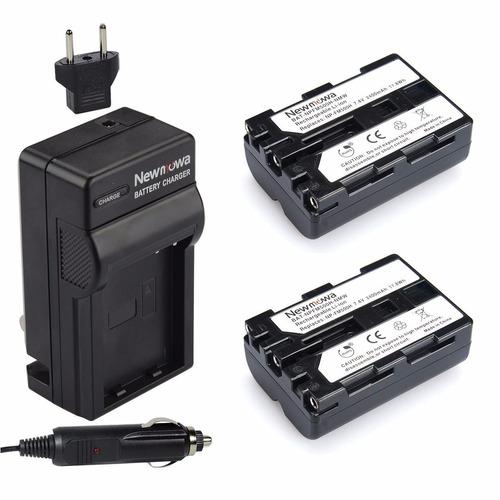 Kit 2 Baterias Y Cargador Para Np Fm-500h Para A58 A57 A65