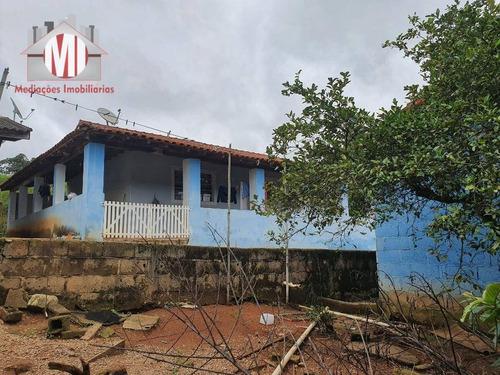 Imagem 1 de 12 de Ótima Chácara Com Escritura, 2 Dormitórios, No Asfalto, À Venda, 353 M² Por R$ 180.000 - Zona Rural - Pinhalzinho/sp - Ch0859