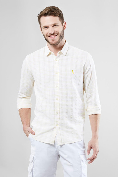 Camisa Regular Textura Horizontal Verano Reserva