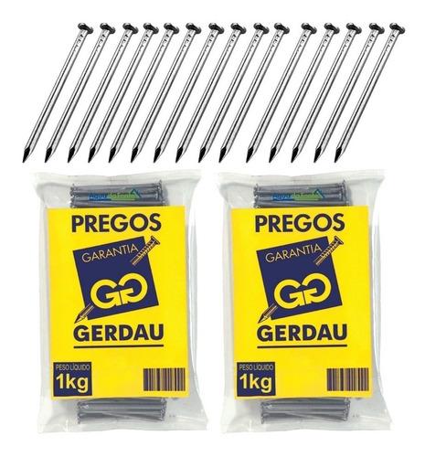 Prego 13x18 Gerdau Polido C/ Cabeça P/ Construção 1 Kg