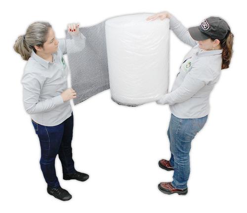 E Rollo Plástico Burbuja De 60cm X 50 Metros