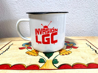 Taza De Peltre Invasión Lgc Roja