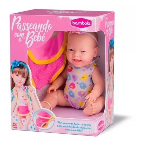 Boneca Passeando Com O Bebê - Bambola